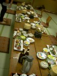 The onsen dinner spread. Dinner and breakfast are included in the cost.